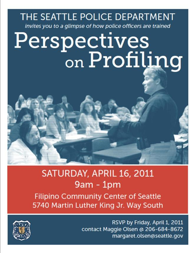 Informational flyer for Perspectives on Profiling class